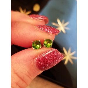 Jewelry - Petite peridot studs